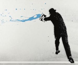 Paint Chucker Blue · 2008 · Nick Walker